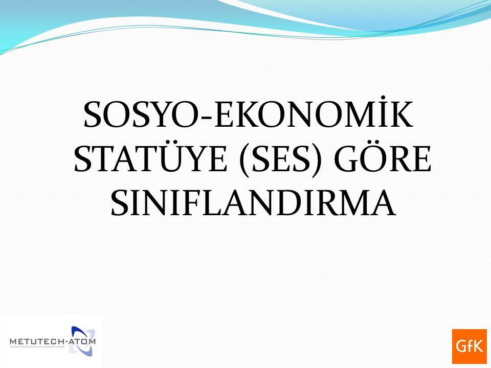 SOSYO-EKONOMİK STATÜYE (SES) GÖRE SINIFLANDIRMA