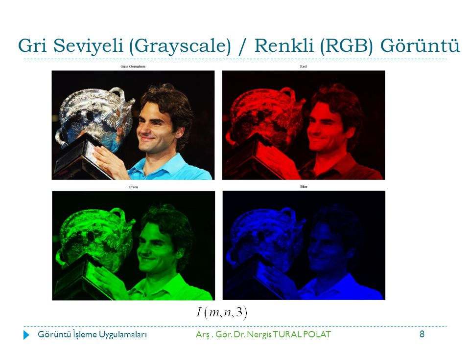 Gri Seviyeli (Grayscale) / Renkli (RGB) Görüntü