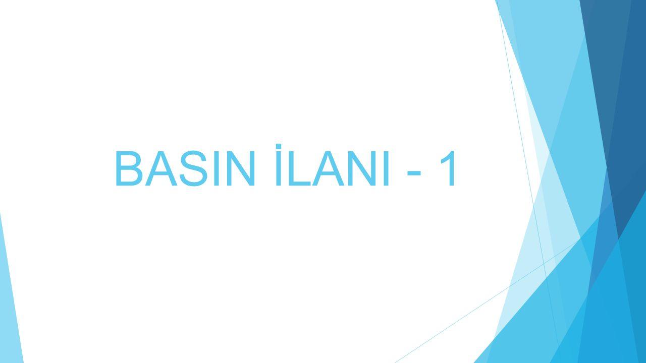 BASIN İLANI - 1