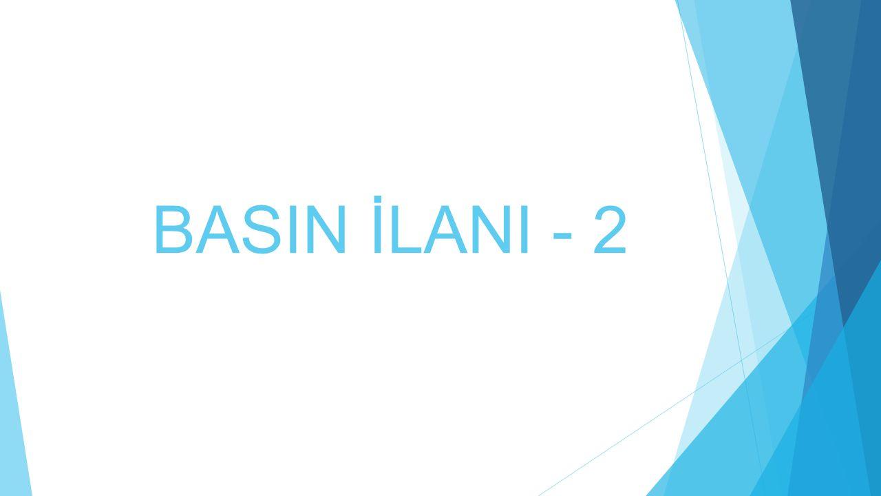 BASIN İLANI - 2