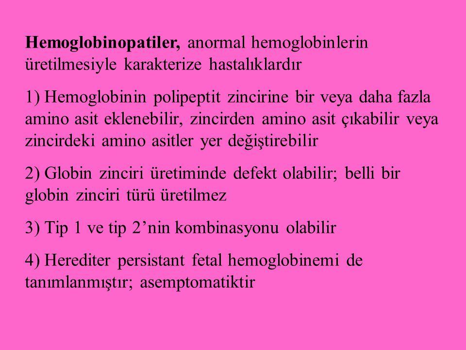 Hemoglobinopatiler, anormal hemoglobinlerin üretilmesiyle karakterize hastalıklardır