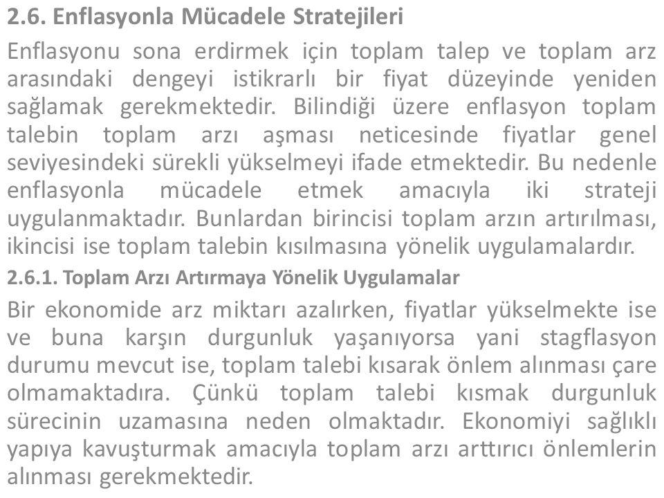 2.6. Enflasyonla Mücadele Stratejileri