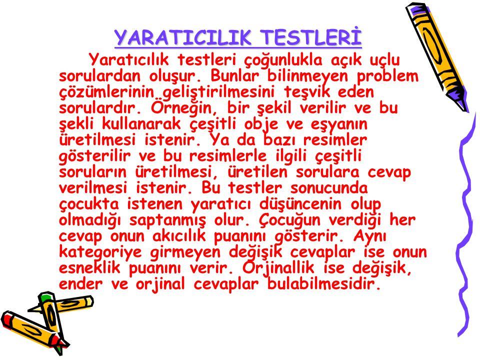 YARATICILIK TESTLERİ