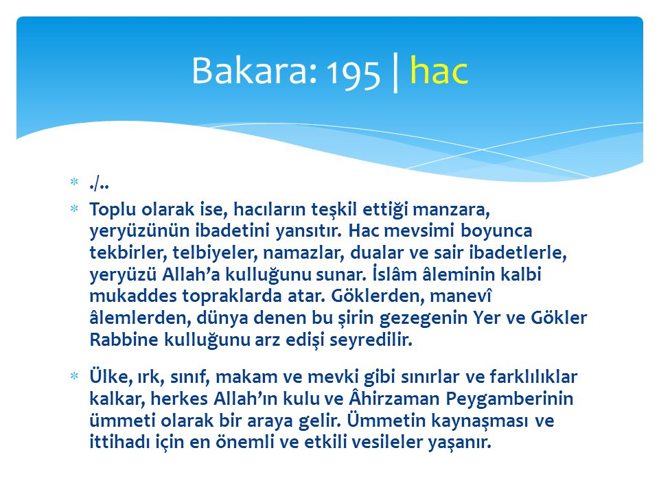 Bakara: 195 | hac ./..