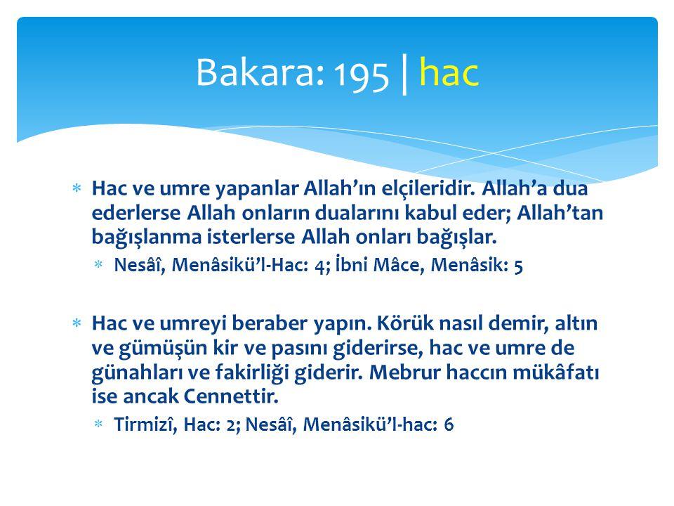 Bakara: 195 | hac