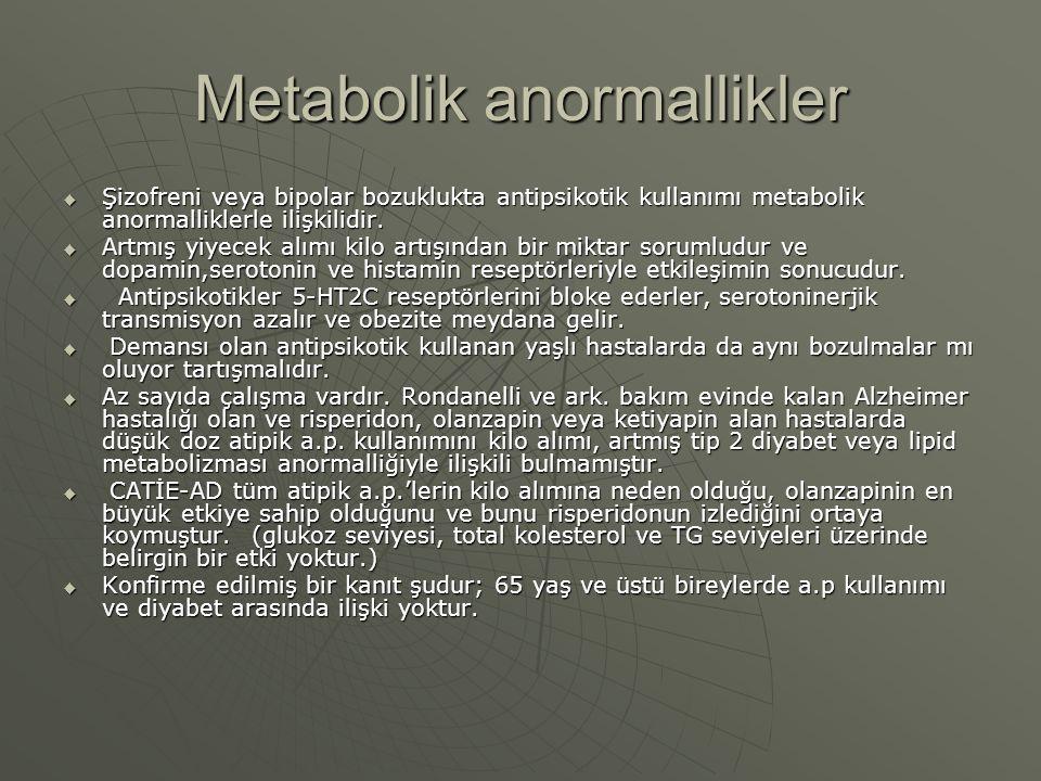 Metabolik anormallikler