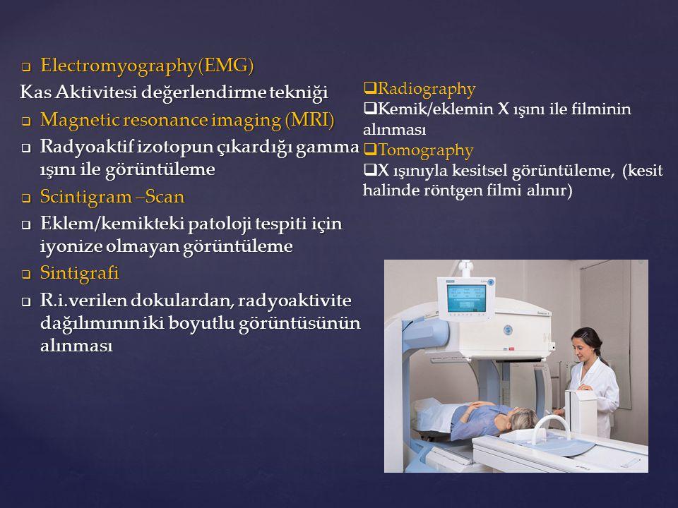 Electromyography(EMG) Kas Aktivitesi değerlendirme tekniği