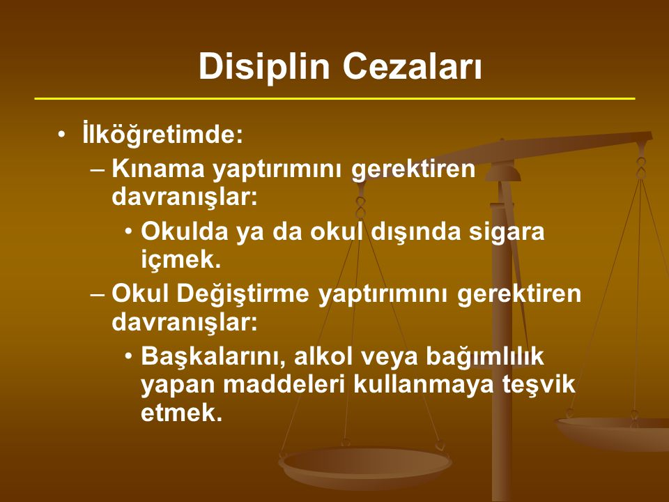 Disiplin Cezaları İlköğretimde: