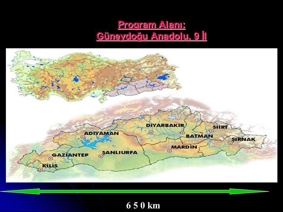Program Alanı: Güneydoğu Anadolu, 9 İl