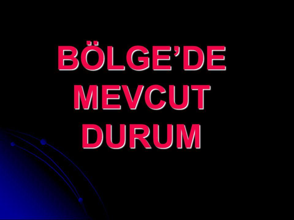 BÖLGE'DE MEVCUT DURUM