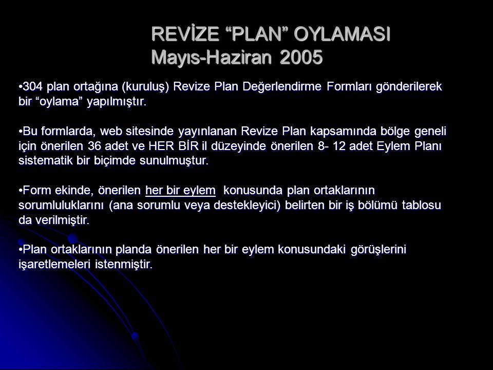 REVİZE PLAN OYLAMASI Mayıs-Haziran 2005