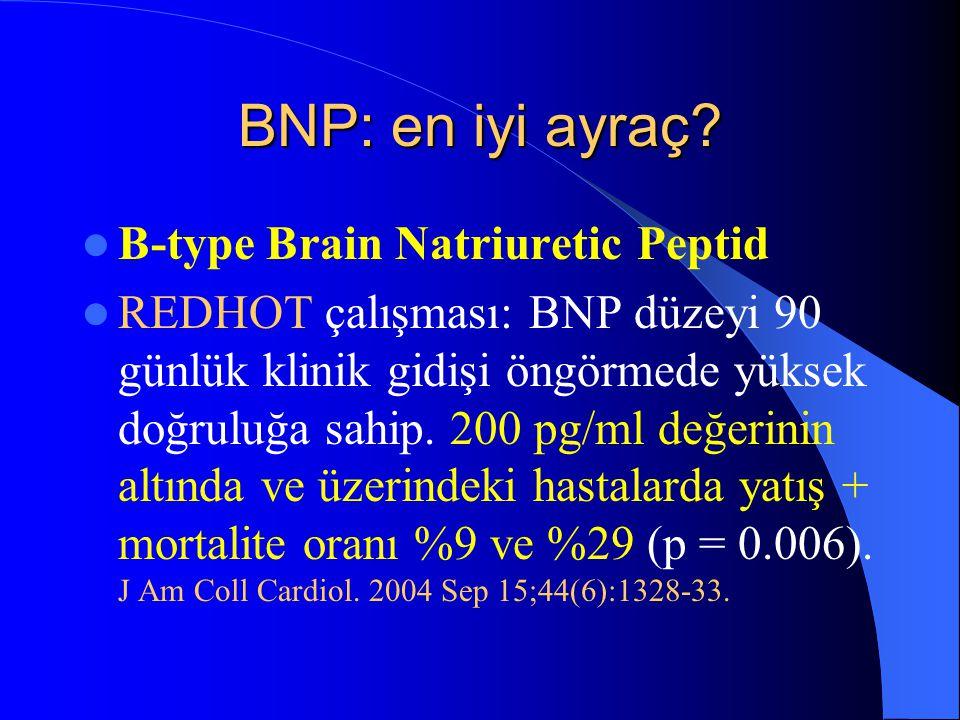 BNP: en iyi ayraç B-type Brain Natriuretic Peptid