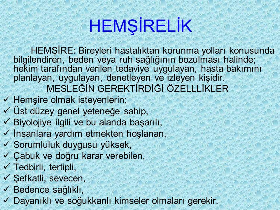 HEMŞİRELİK