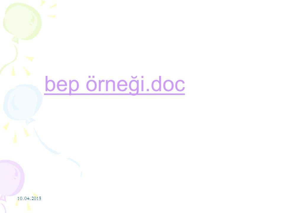 bep örneği.doc 10.04.2017