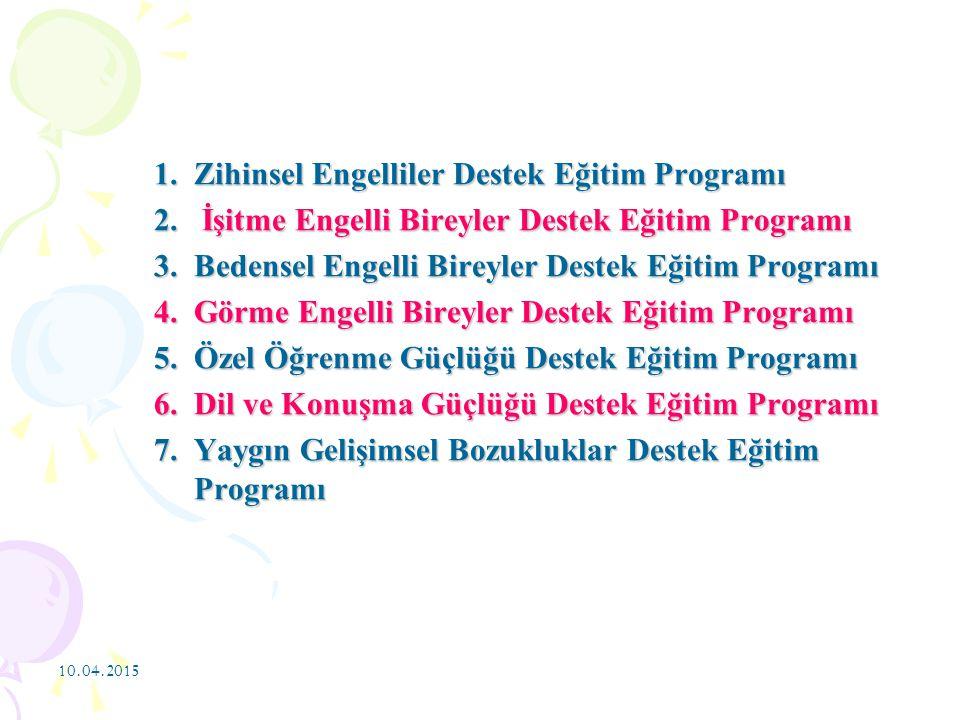 Zihinsel Engelliler Destek Eğitim Programı