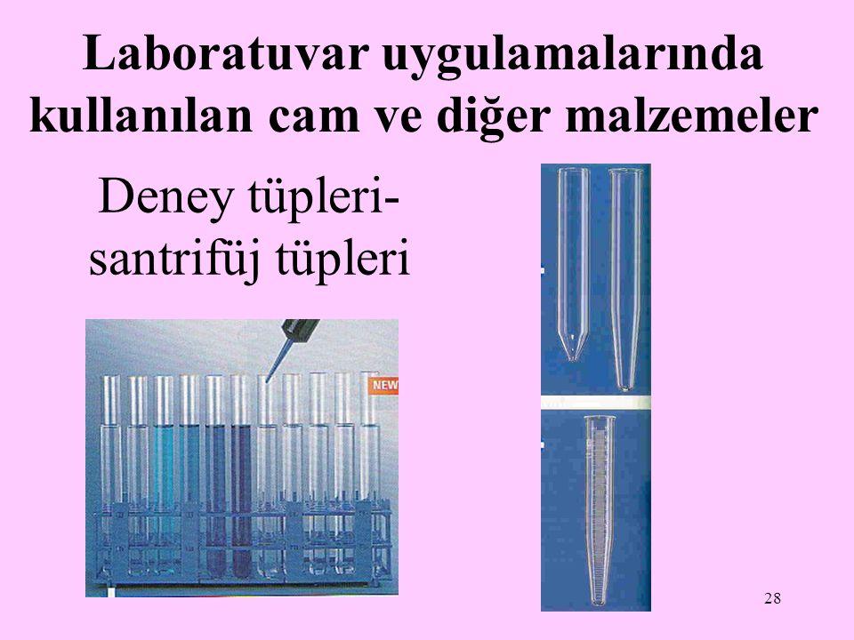 Deney tüpleri-santrifüj tüpleri
