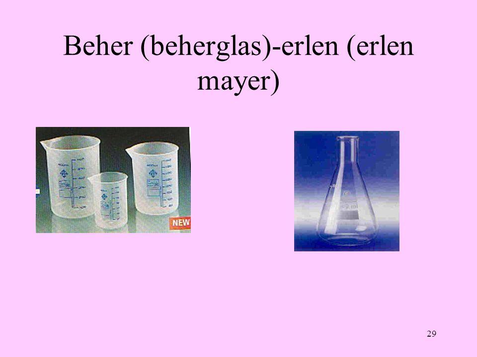 Beher (beherglas)-erlen (erlen mayer)