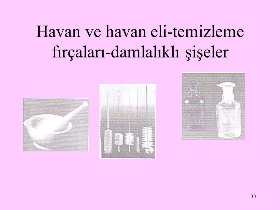 Havan ve havan eli-temizleme fırçaları-damlalıklı şişeler