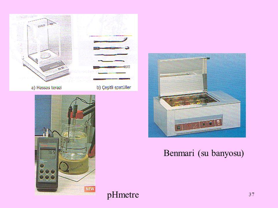 Benmari (su banyosu) pHmetre