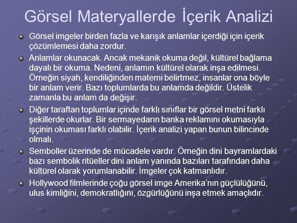 Görsel Materyallerde İçerik Analizi