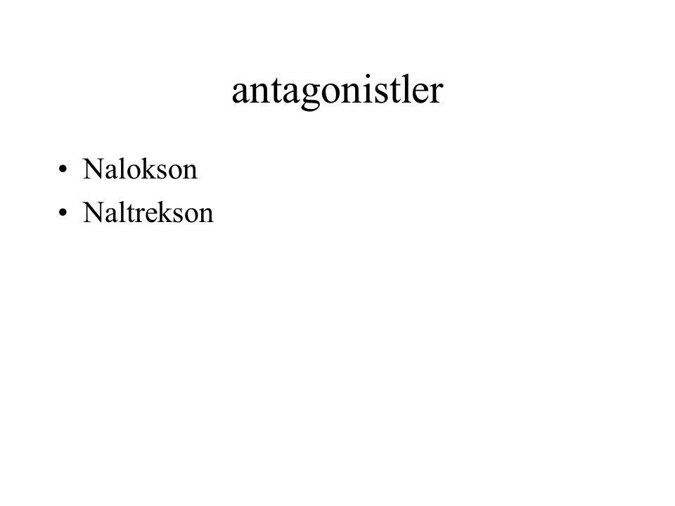 antagonistler Nalokson Naltrekson