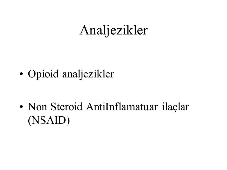Analjezikler Opioid analjezikler