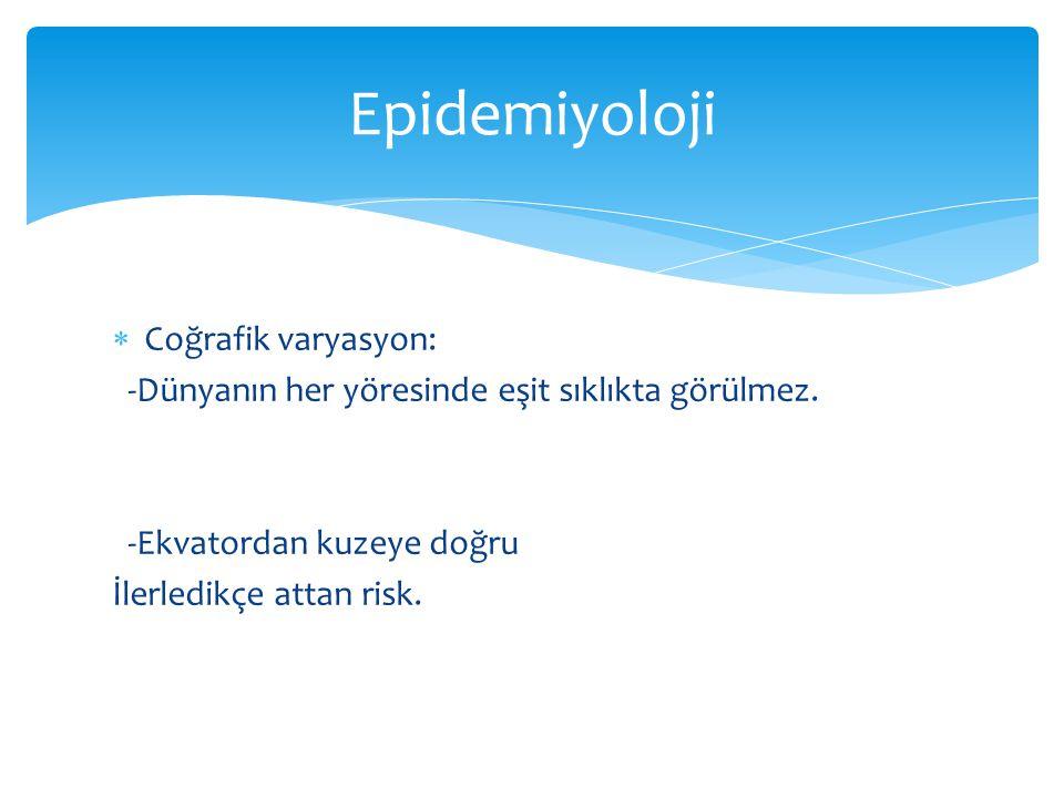 Epidemiyoloji Coğrafik varyasyon: