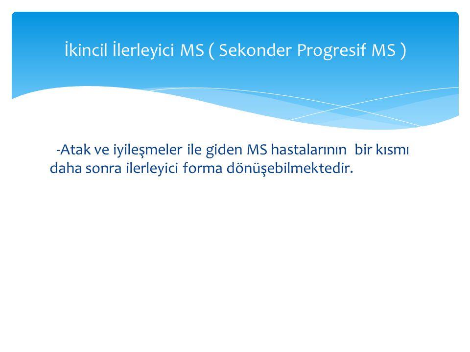 İkincil İlerleyici MS ( Sekonder Progresif MS )