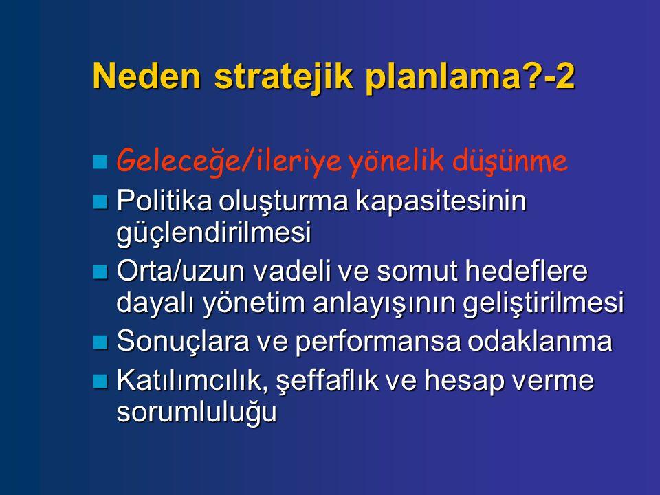 Neden stratejik planlama -2