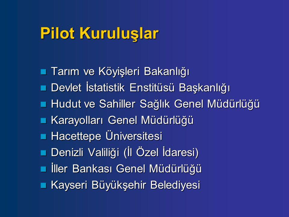 Pilot Kuruluşlar Tarım ve Köyişleri Bakanlığı