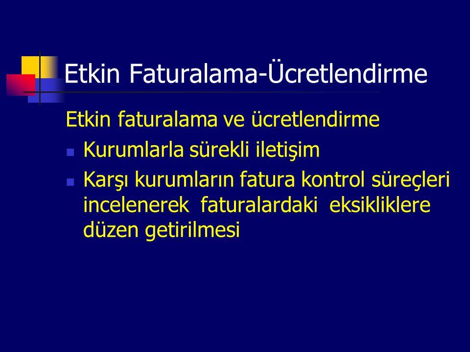 Etkin Faturalama-Ücretlendirme