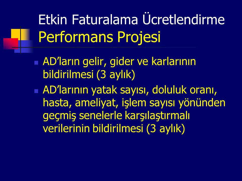 Etkin Faturalama Ücretlendirme Performans Projesi