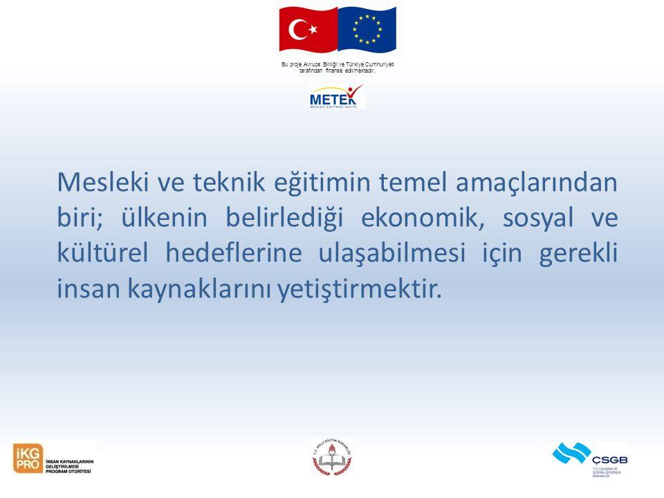 Bu proje Avrupa Birliği ve Türkiye Cumhuriyeti