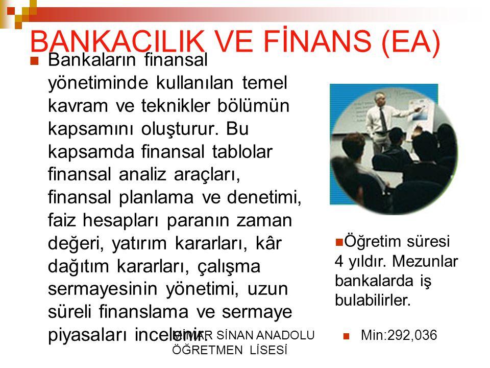 BANKACILIK VE FİNANS (EA)
