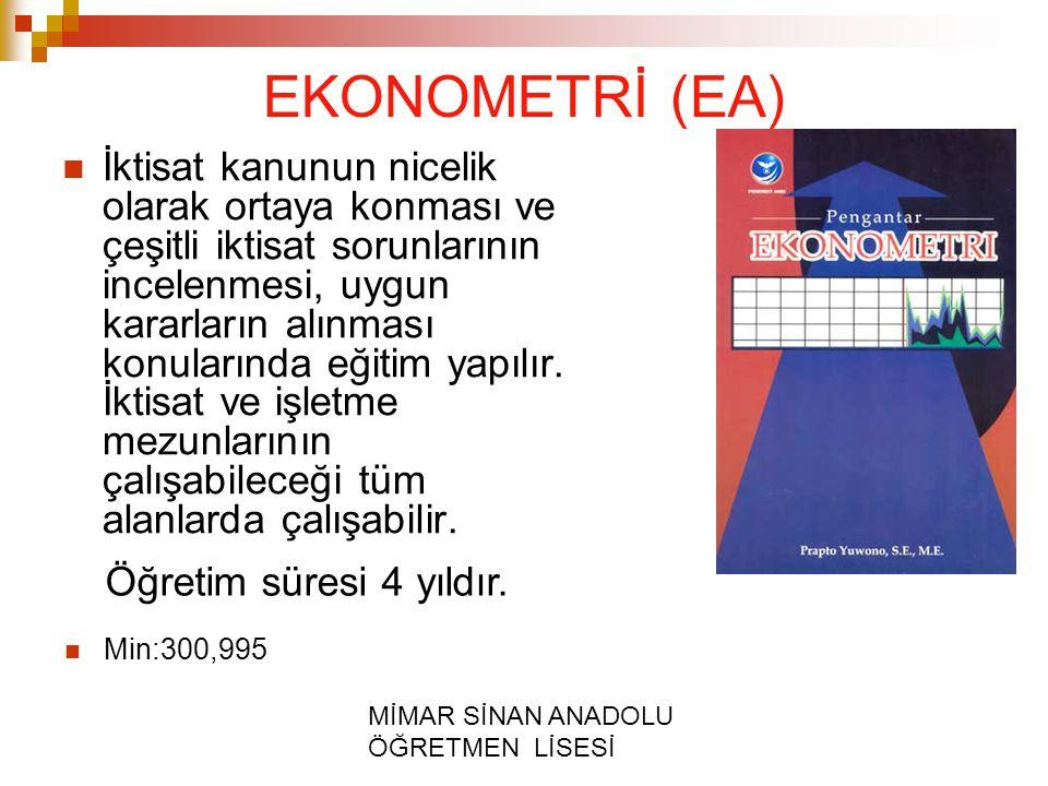 EKONOMETRİ (EA)