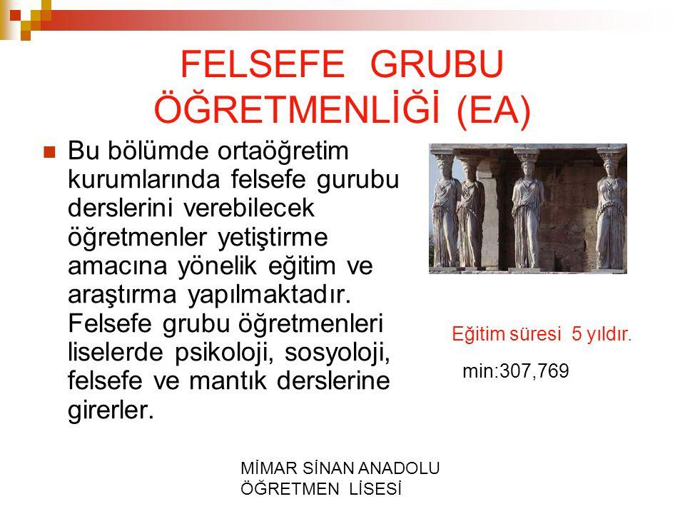 FELSEFE GRUBU ÖĞRETMENLİĞİ (EA)