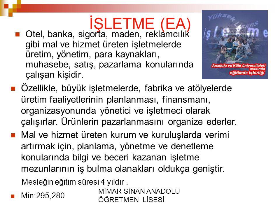 İŞLETME (EA)