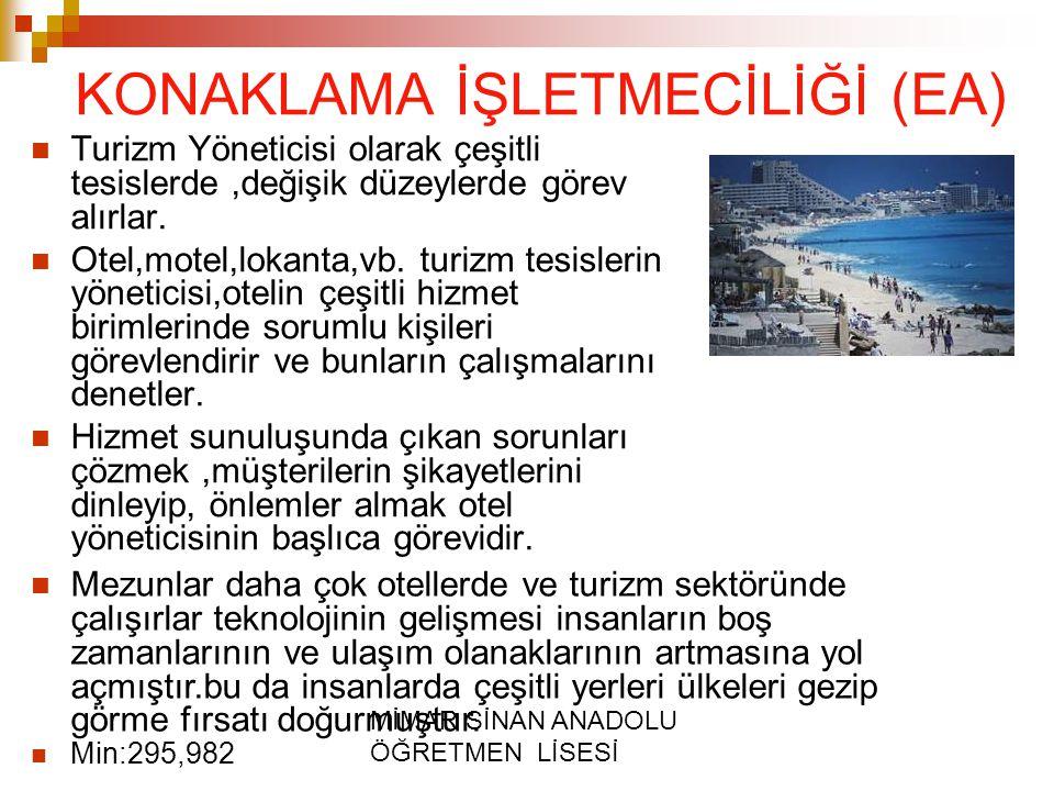 KONAKLAMA İŞLETMECİLİĞİ (EA)