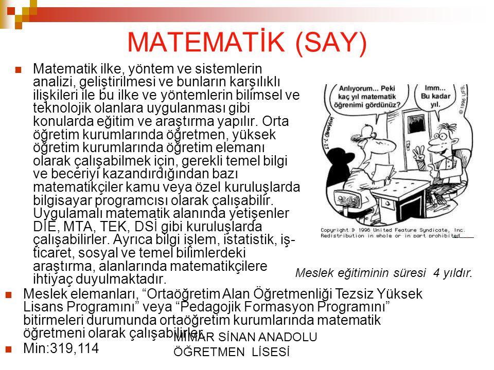 MATEMATİK (SAY)