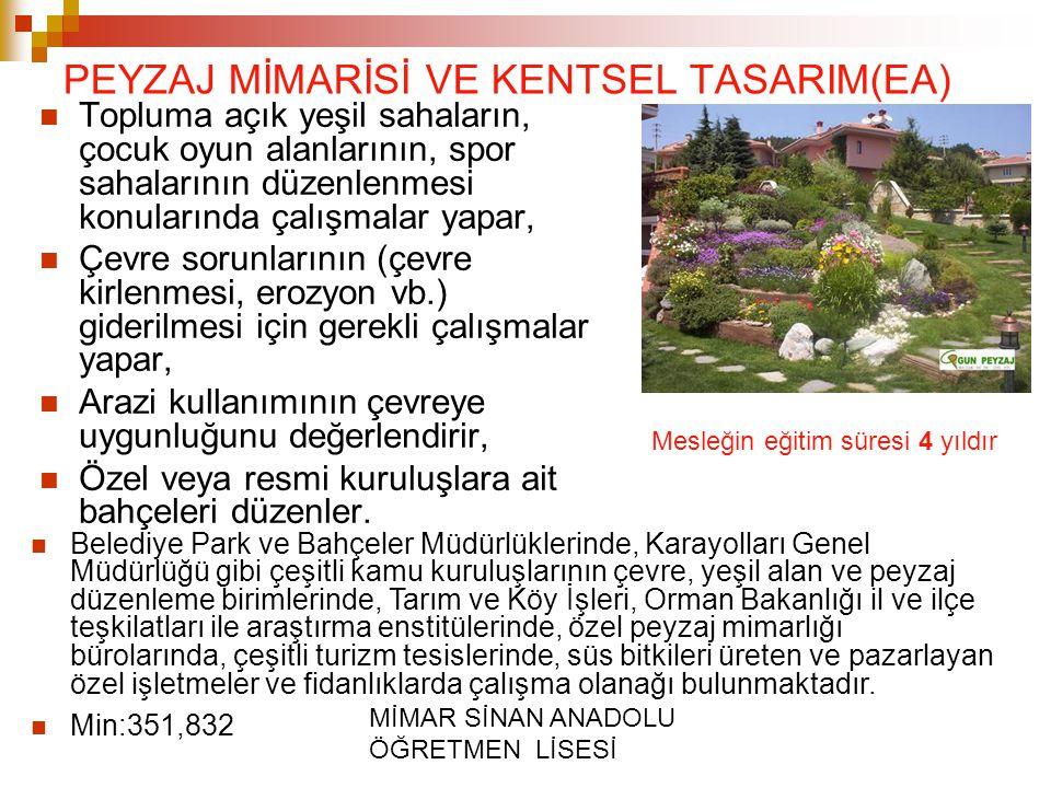 PEYZAJ MİMARİSİ VE KENTSEL TASARIM(EA)
