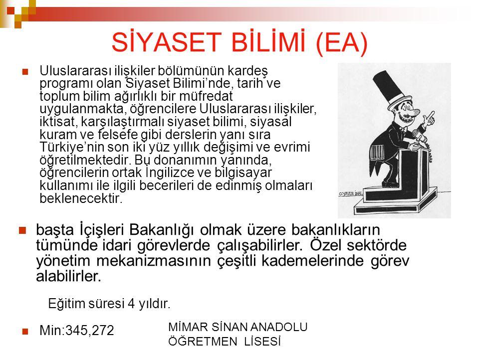 SİYASET BİLİMİ (EA)