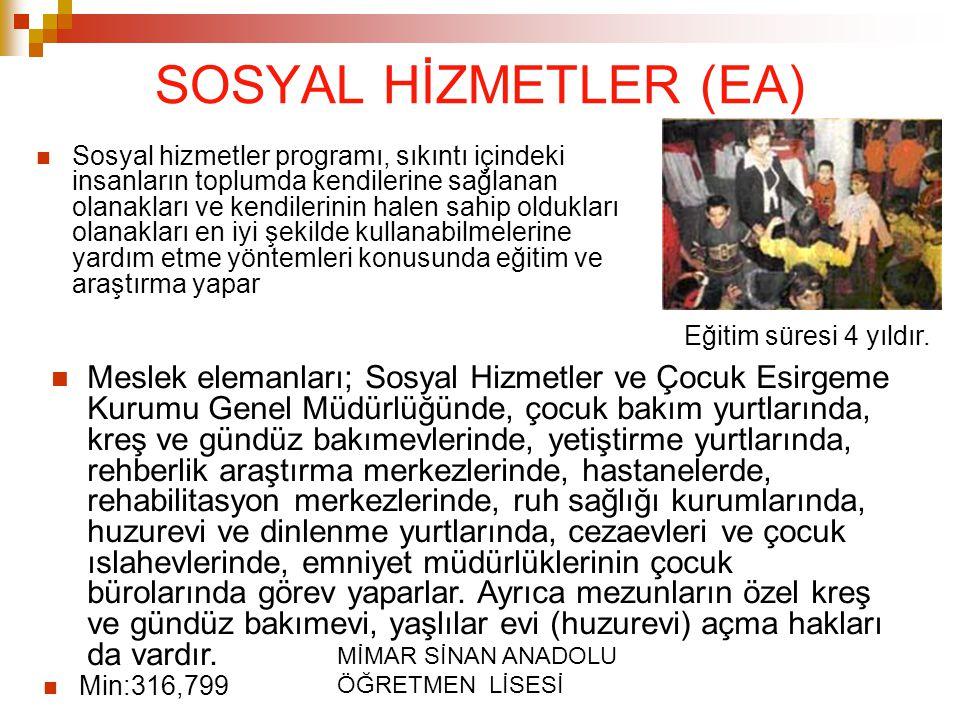 SOSYAL HİZMETLER (EA)