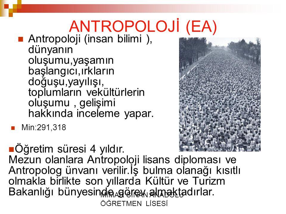 ANTROPOLOJİ (EA)
