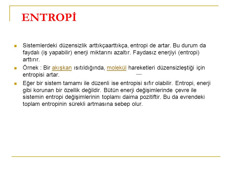 ENTROPİ