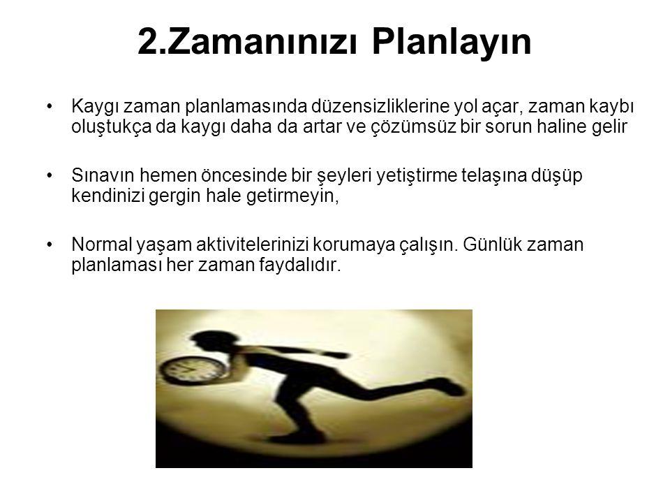 2.Zamanınızı Planlayın
