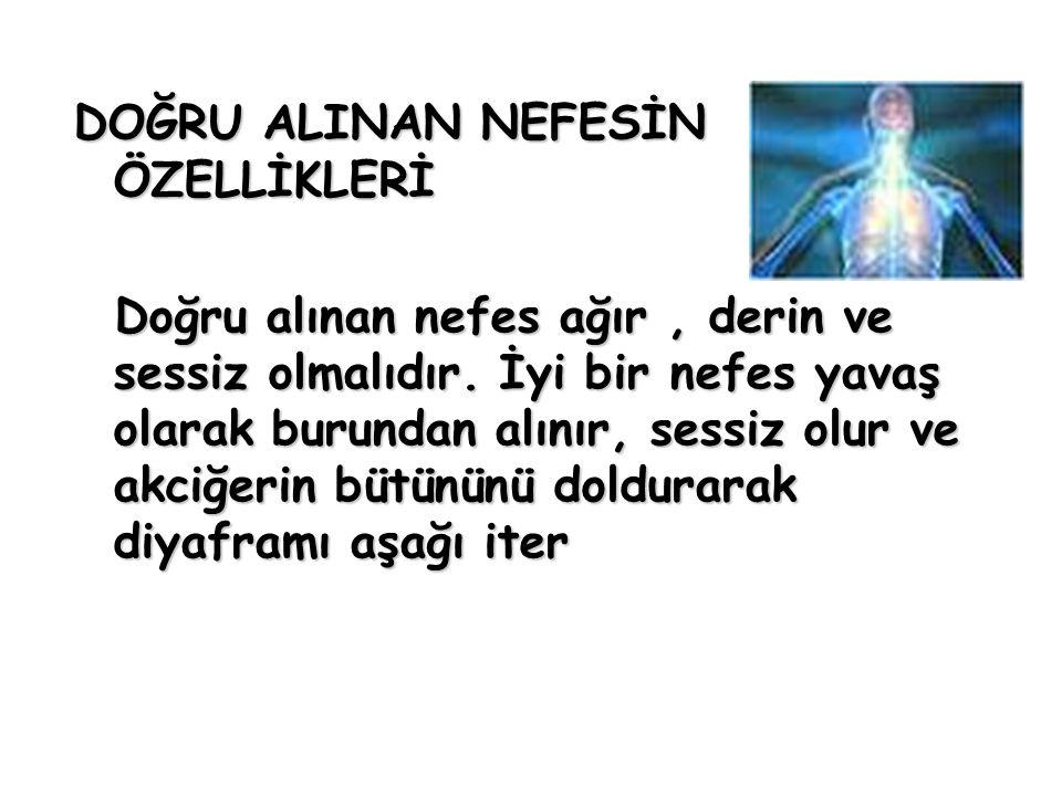 DOĞRU ALINAN NEFESİN ÖZELLİKLERİ