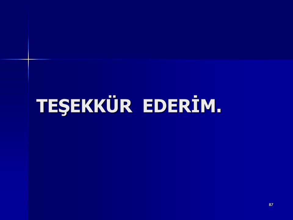TEŞEKKÜR EDERİM. 87