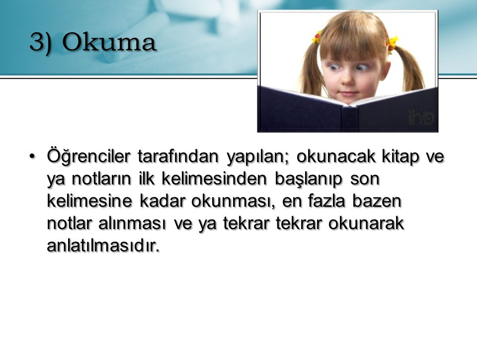 3) Okuma