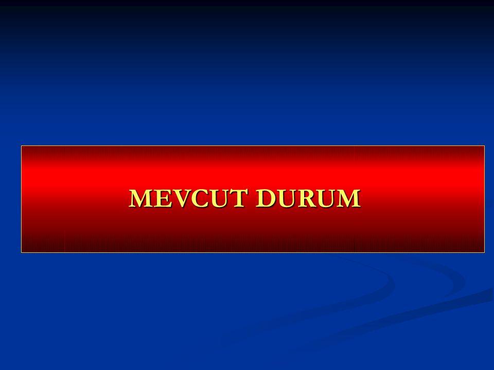 MEVCUT DURUM Dr.AGocen Dr.AGocen Dr.AGocen Dr.AGocen Dr.AGocen