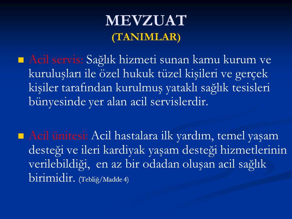 MEVZUAT (TANIMLAR)